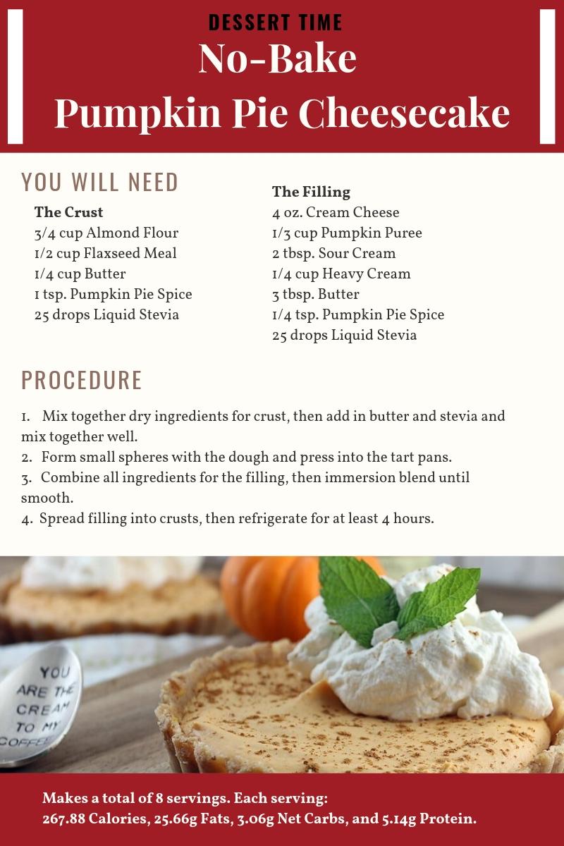 Pumpkin Pie Cheesecake Recipe Card