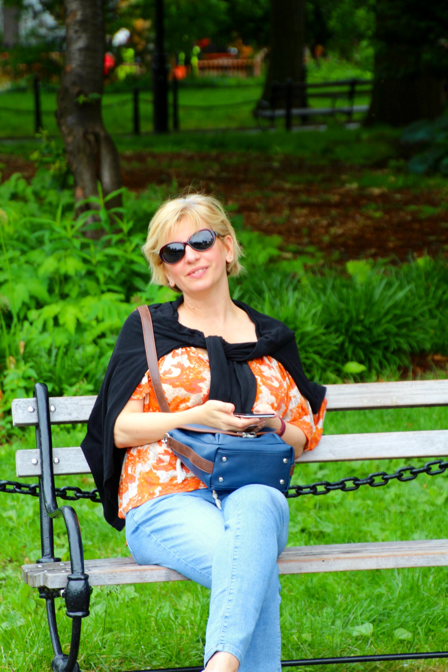 Resting in Washington Square Park