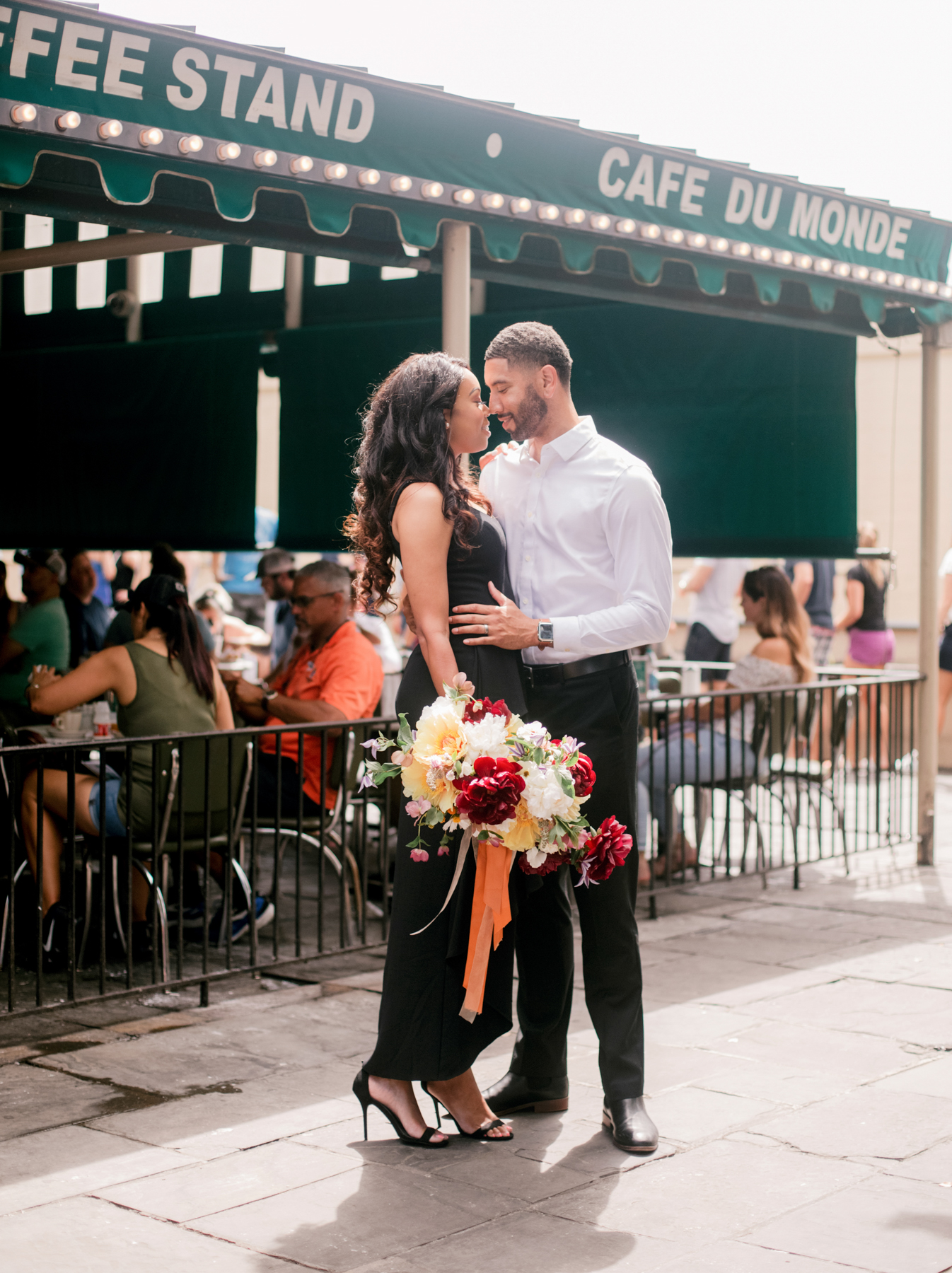 Entrepreneur and lifestyle blogger Britt Fusilier and husband Dwight are celebrating the anniversary of their meeting in the Historic French Quarter years prior.