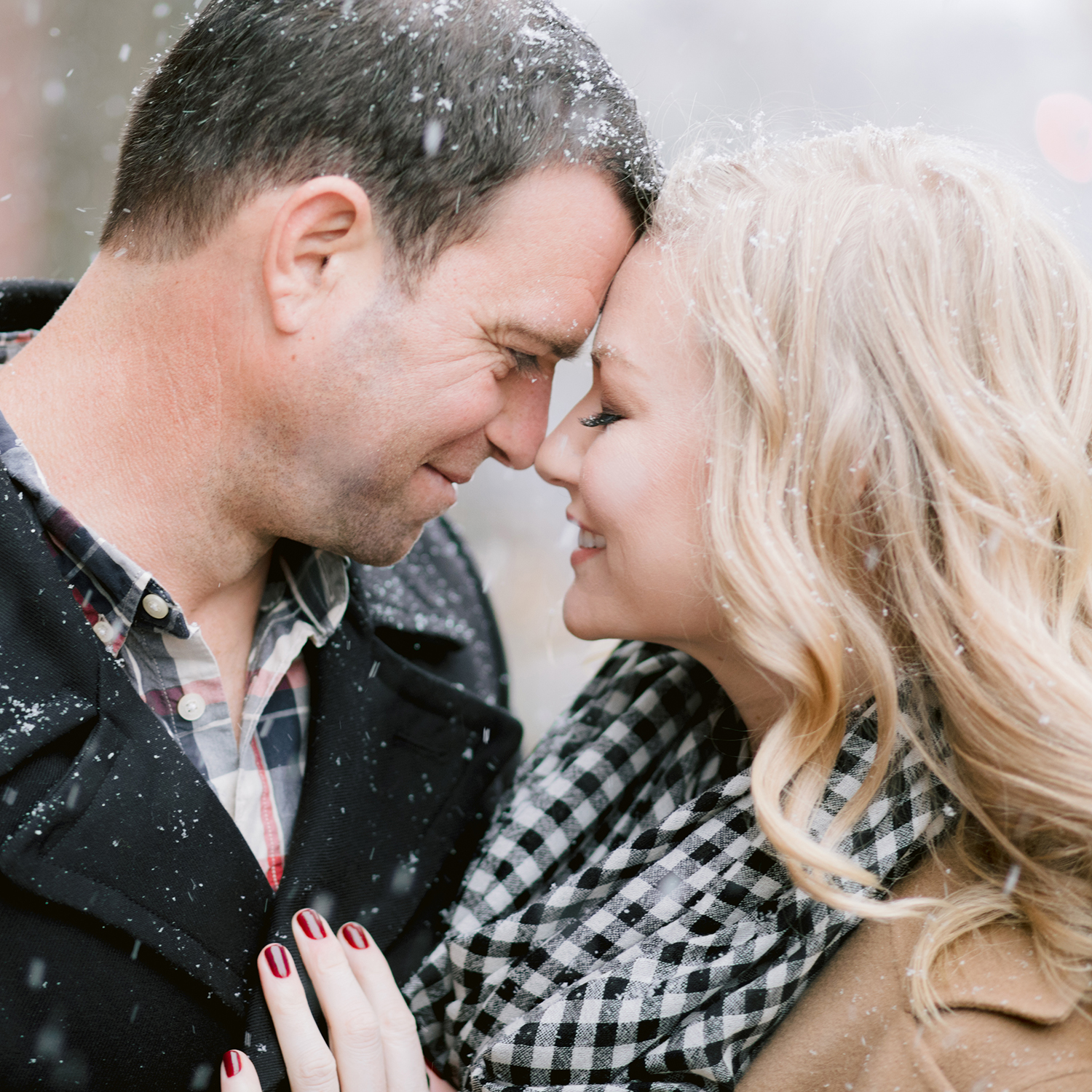 A Magical Winter Engagement Session in Bucks County