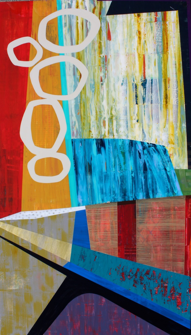 """Featured Work • Lincoln Park, Mixed Media on Wood Panel • 48"""" x 84"""""""