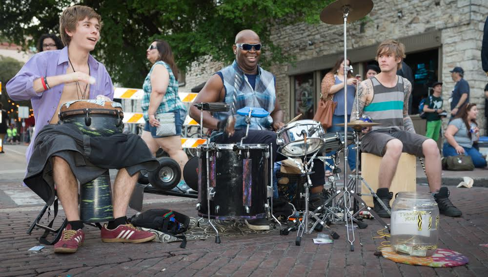 6th Street Austin TX, SXSW 2017 Street Performers