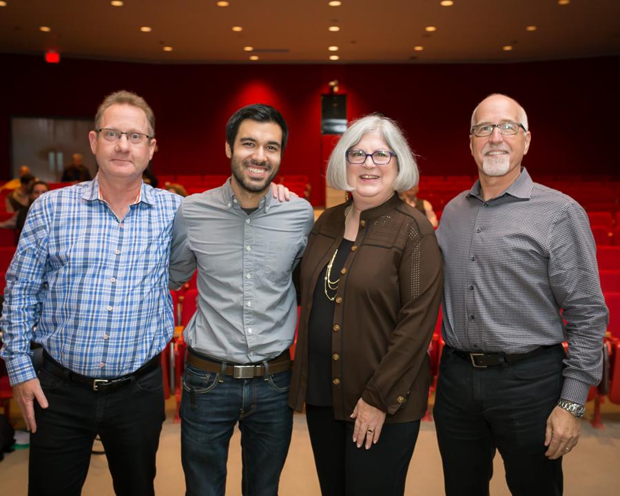 Left to Right: Ron Crates, Guillermo Ortiz, Lynne Marcus, David Hughen