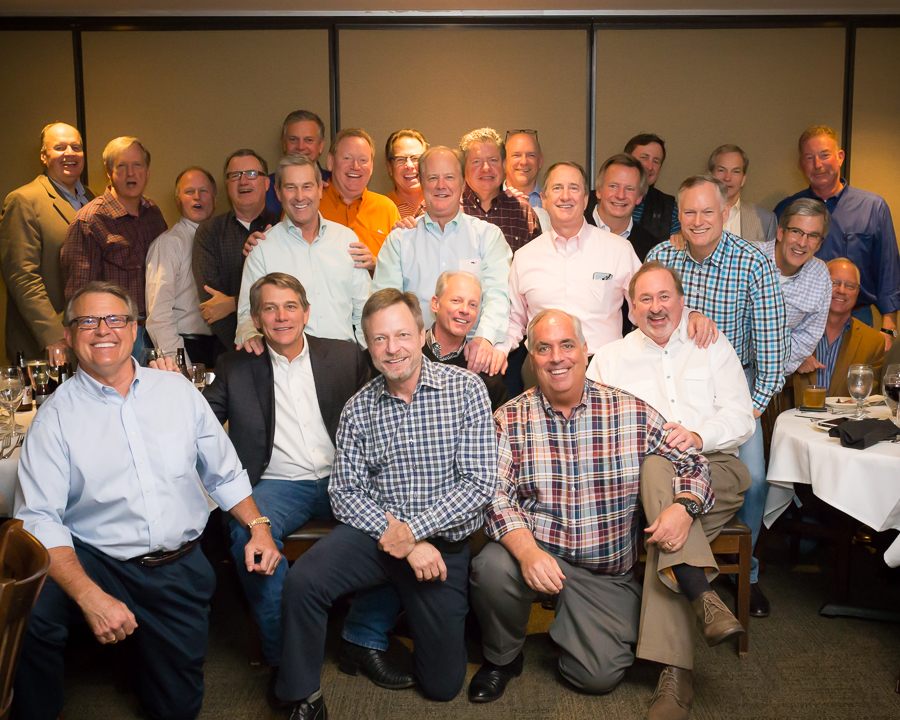 Great group photo of everyone that attended; Bob's Steak & Chophouse