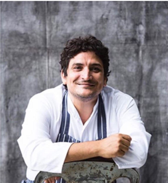 Chef Mauro Colagreco - Chef of 3 Michelin star restaurant Mirazur, France. 3rd on The World's 50 Best Restaurants List 2018 Chevalier de l'Ordre du Merité,
