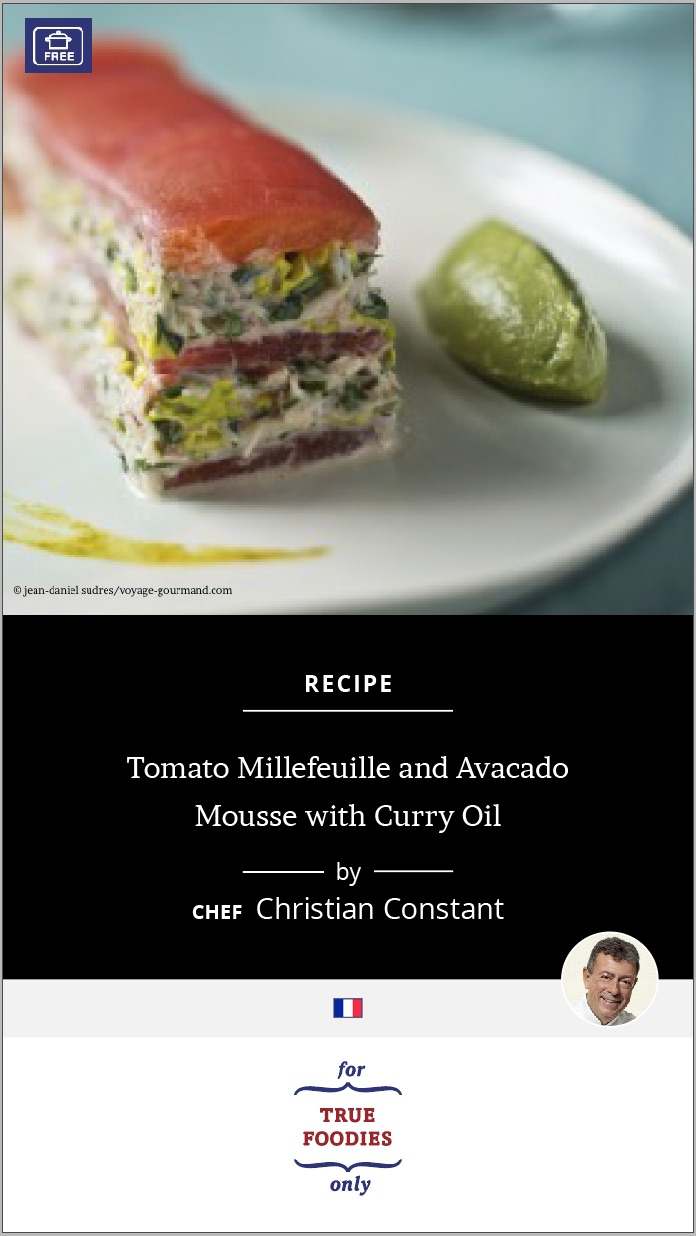 Tomato Millefeuille and Avacado Mousse