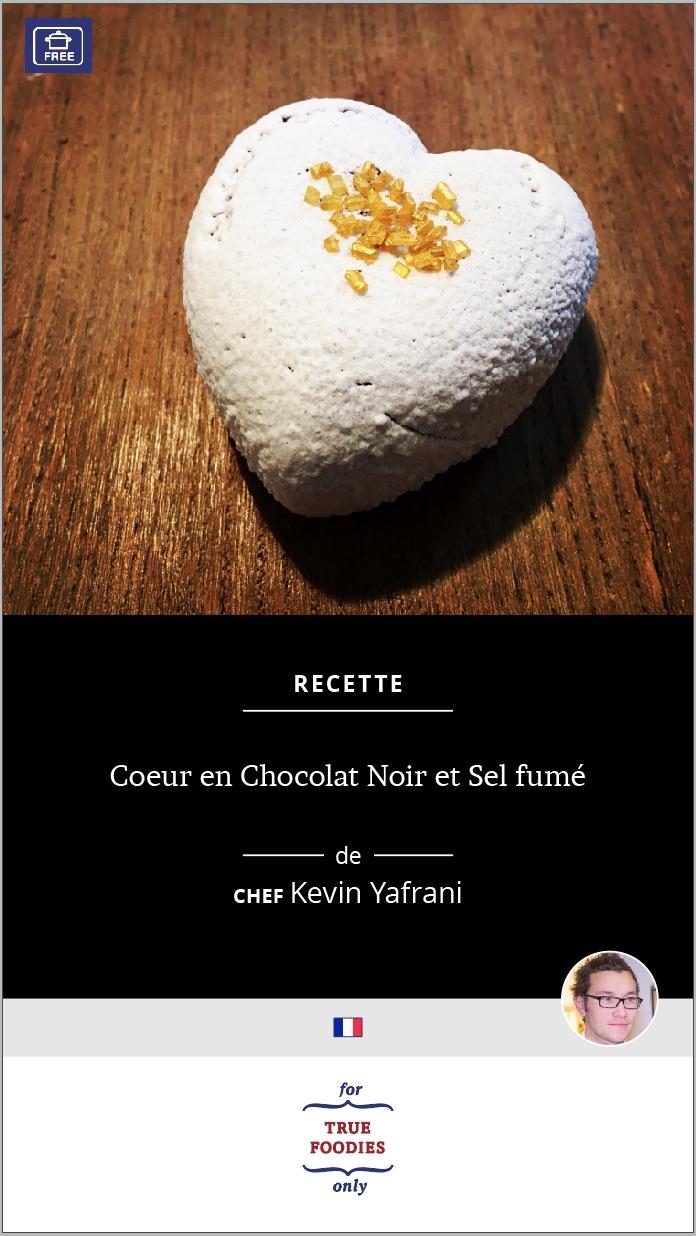 Coeur en Chocolat Noir et Sel fume