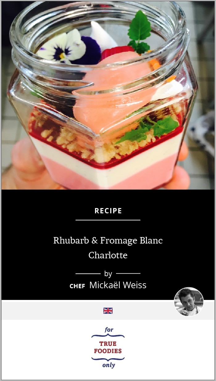Rhubarb & Fromage Blanc Charlotte