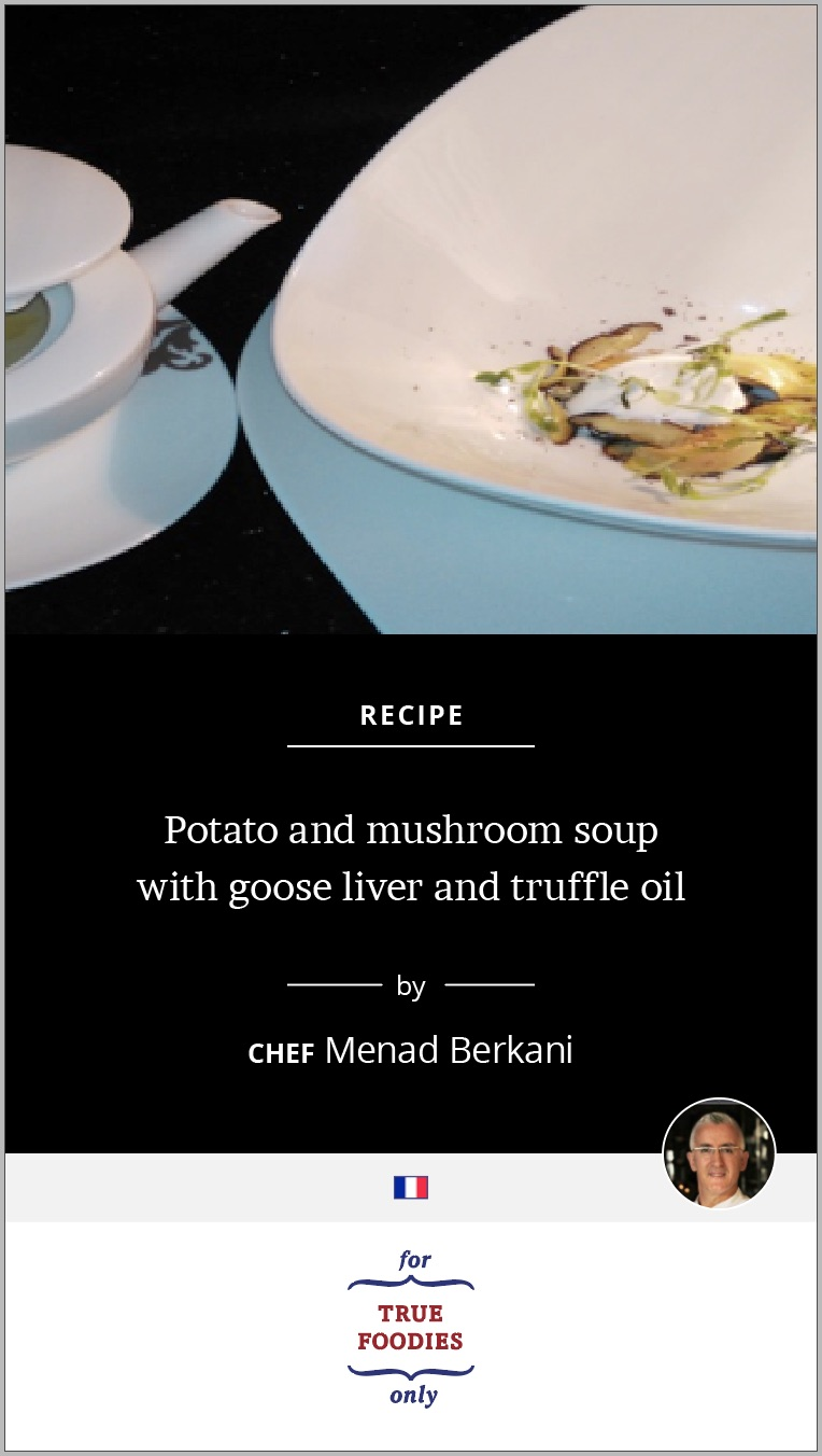 Potato and mushroom soup
