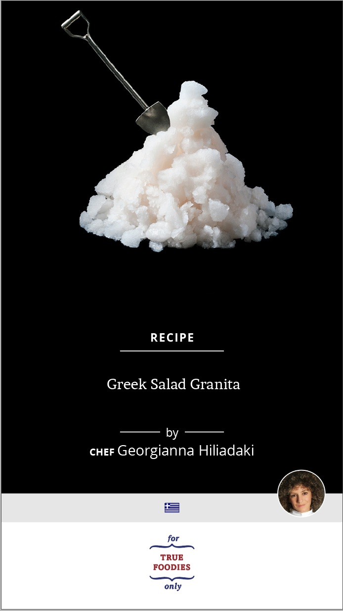Greek Salad Granita