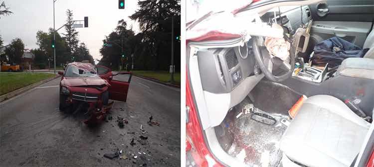 Extensive damage to Car