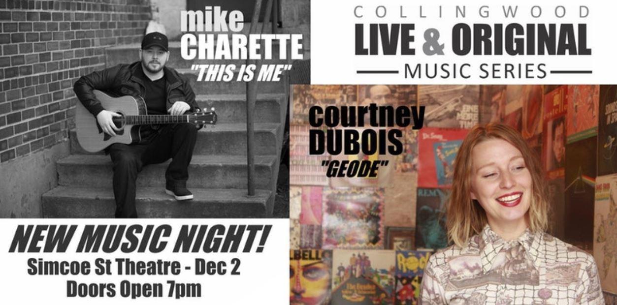 new music night collingwood mike charette courtney dubois.jpg
