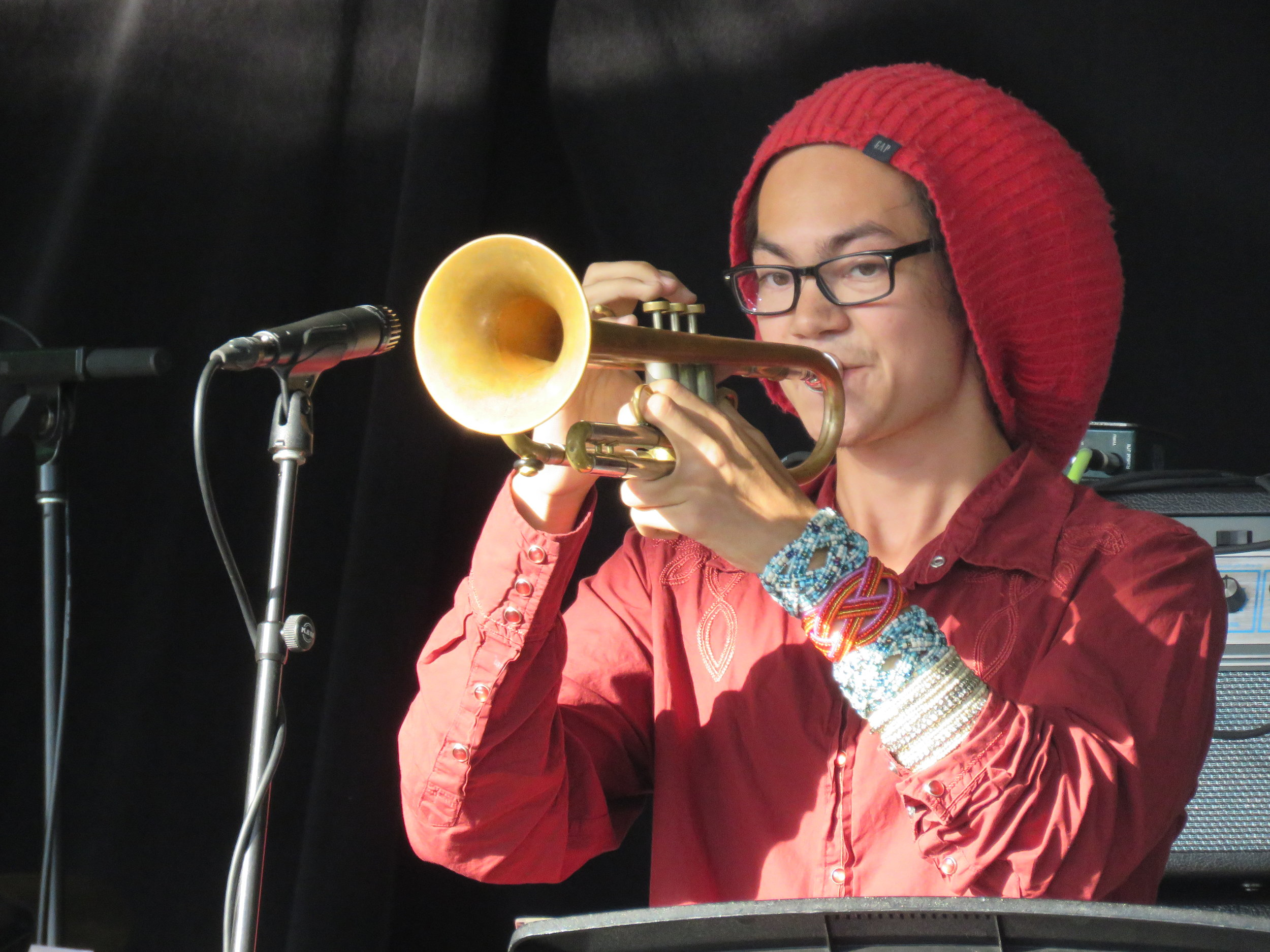 Kaelin Murphy, likely killing it on the trumpet, pictured.
