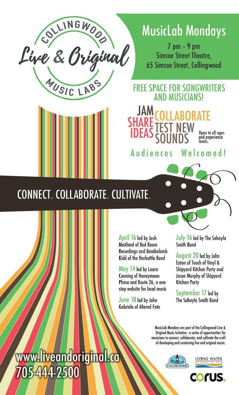 live & original Music Lab Mondays Collingwood simcoe street theatre