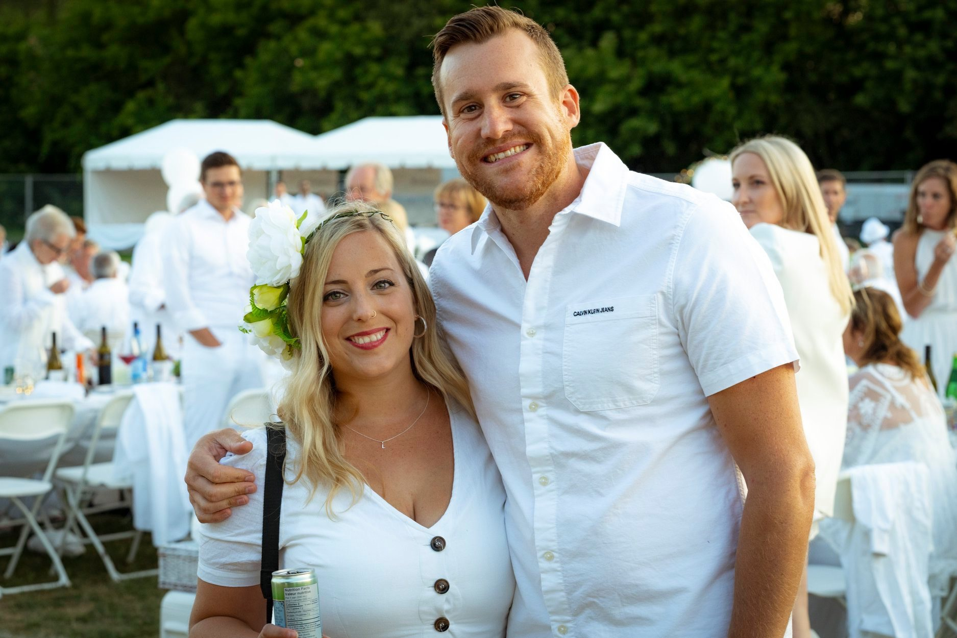 Laura Conning and Nelson Beattie.  NOT taken by me.  Courtesy of a Diner en Blanc photographer.