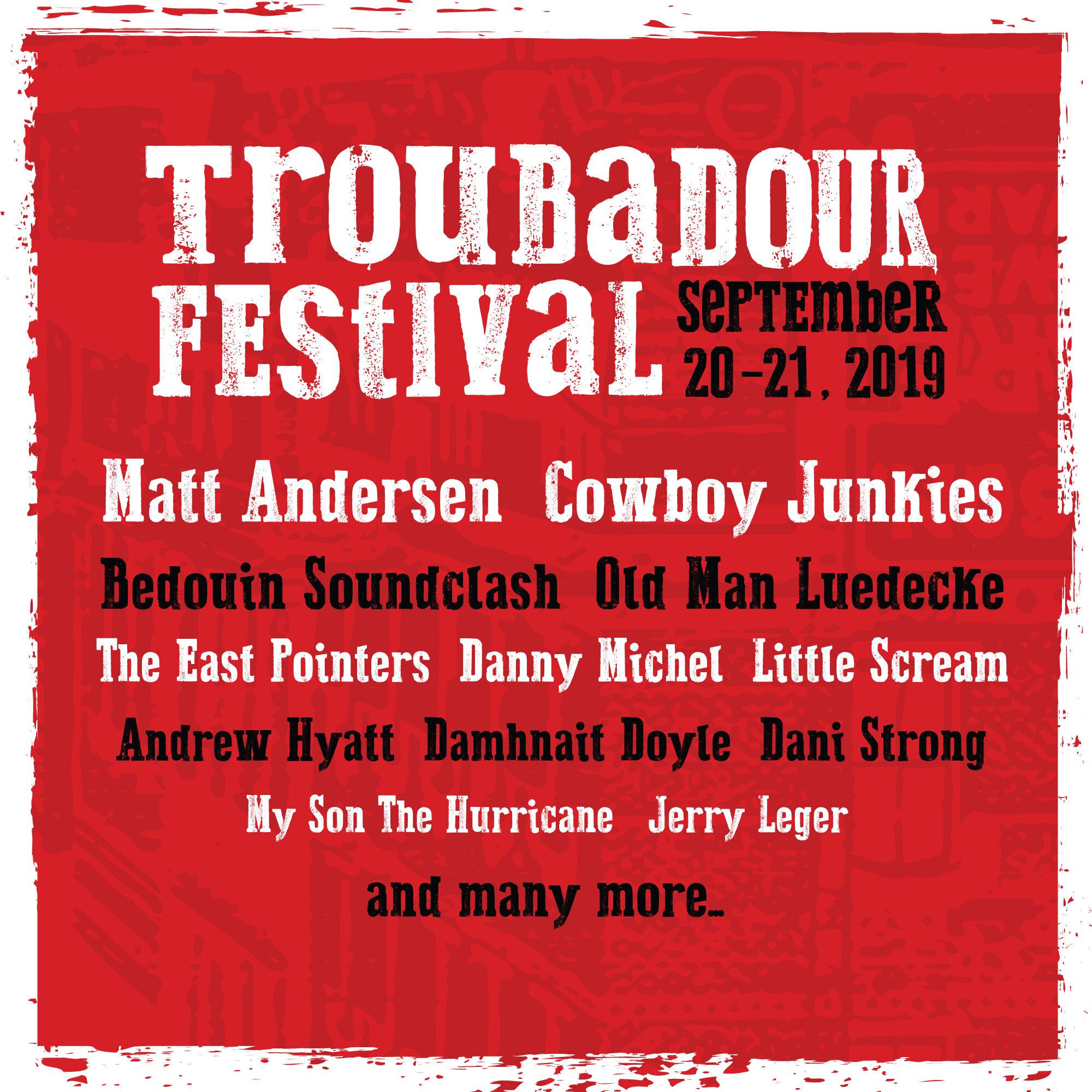troubadour festival barrie 2019