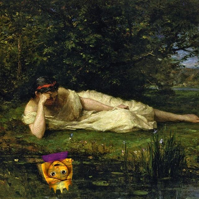 When you look at your reflection and see you're real self. #emojimuseum #emoji #jeanleongerome #reflection #queen #yassss #yas #trueself