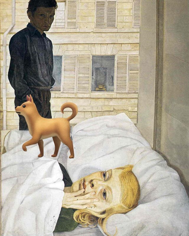 When you silently fake being sleepy so your husband has to take out the dog in the morning. #emoji #emojimuseum #lucianfreud #hotelbedroom #dogperson #dogsofinstgram #dogs #mansbestfriend #everyonepoops #notamorningperson