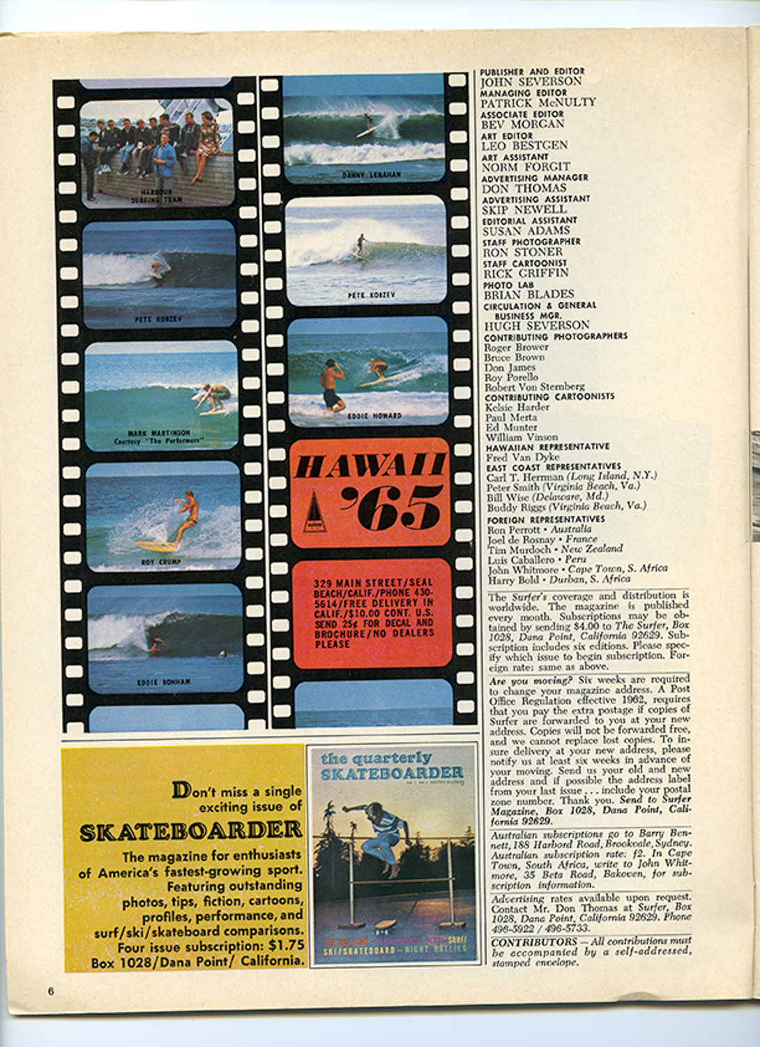 SURFER MAG 1965 MAY VOL6