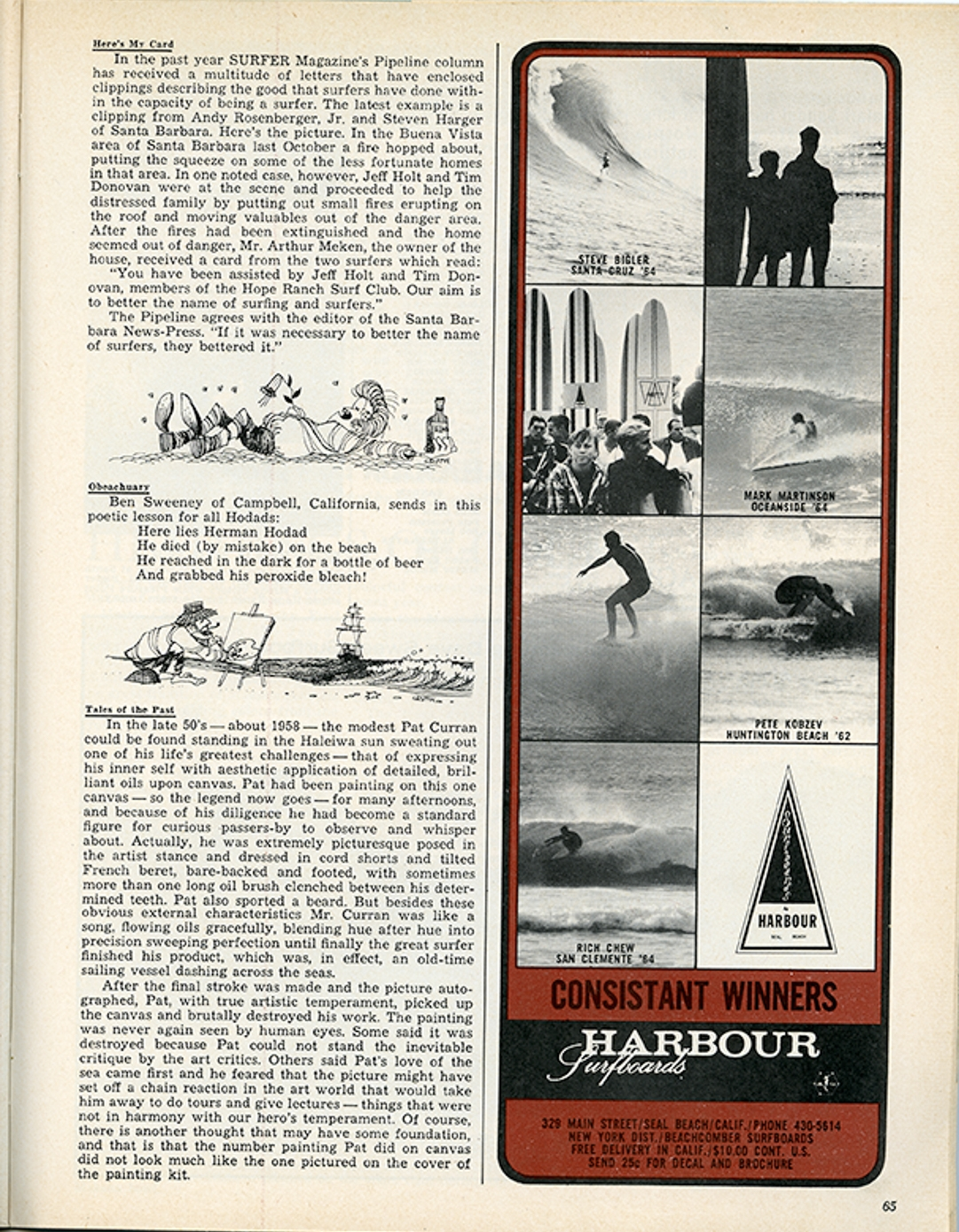 SURFER MAG 1965 MARCH VOL6