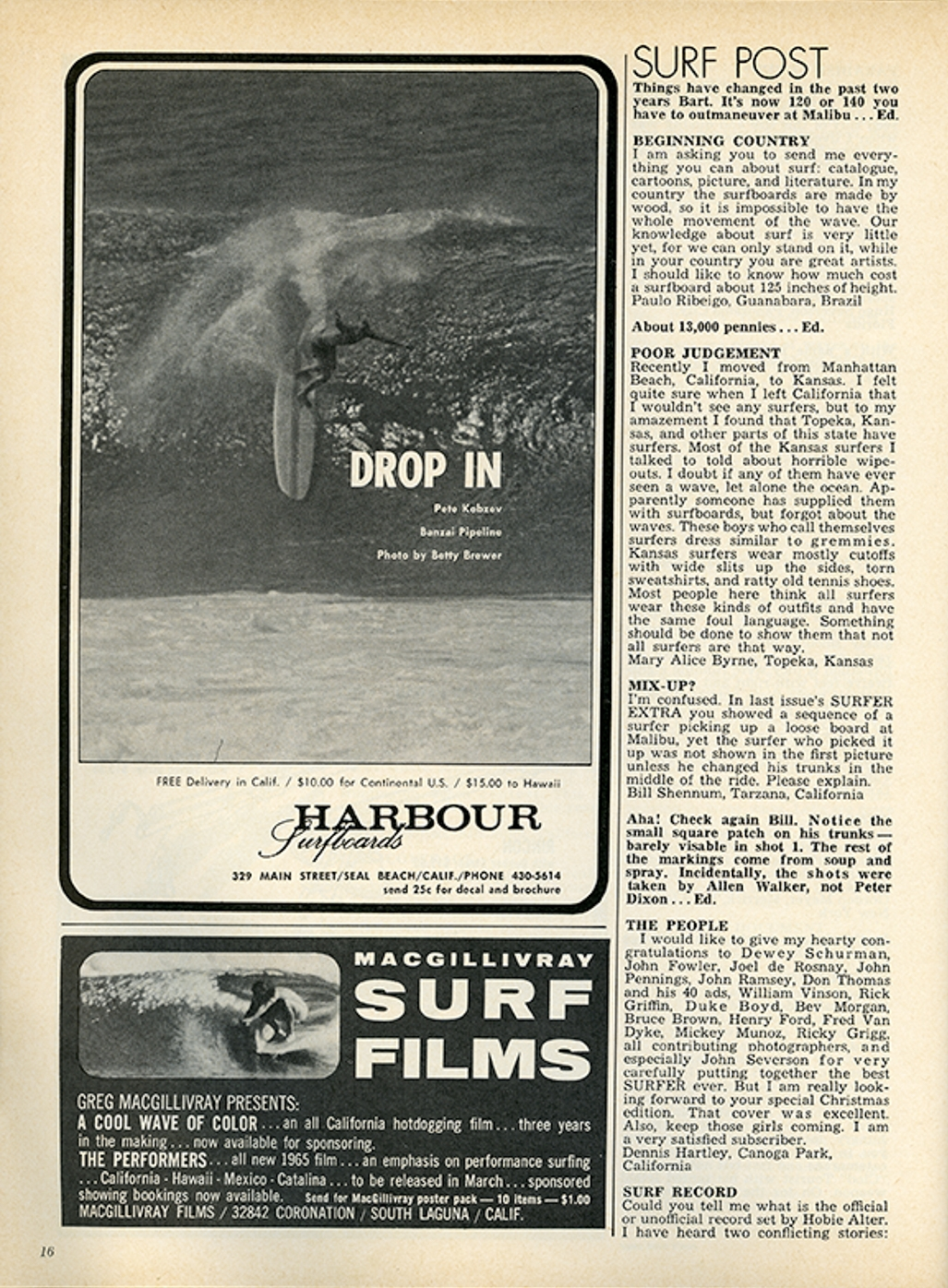 SURFER MAG 1964 DEC-JAN VOL6