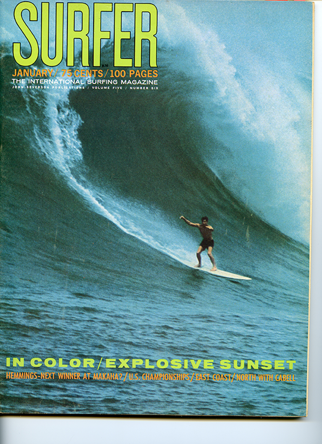 SURFER MAG 1964 JAN VOL5 - STEVE BIGLER