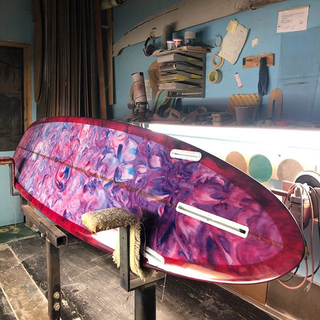 Sad to see this beautiful custom H3 model move through so quick, off to Mexico and back to Canada she goes! #h3model #resinswirl #harboursurfboards
