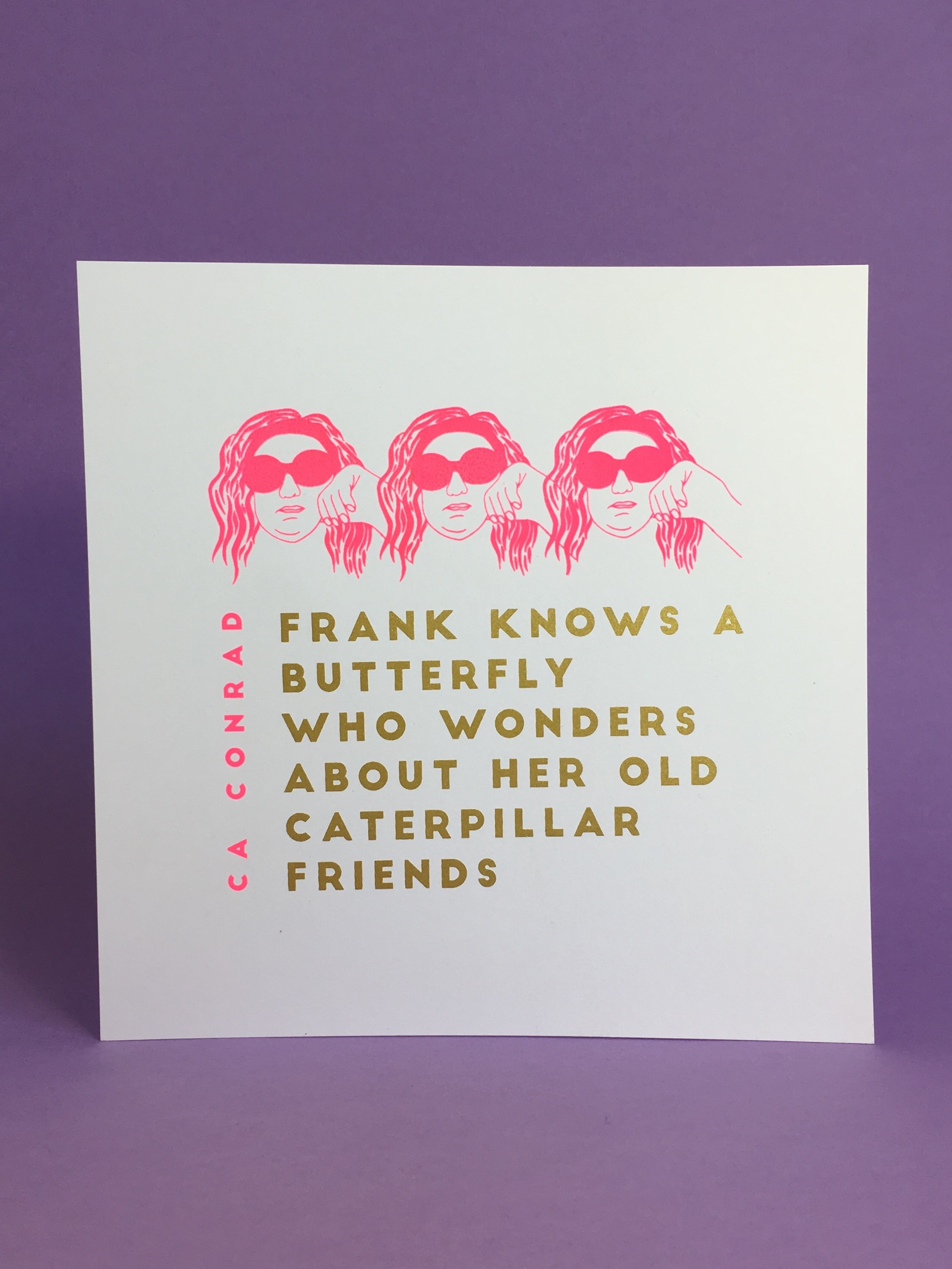Book of Frank Broadside (Poem by CA Conrad)