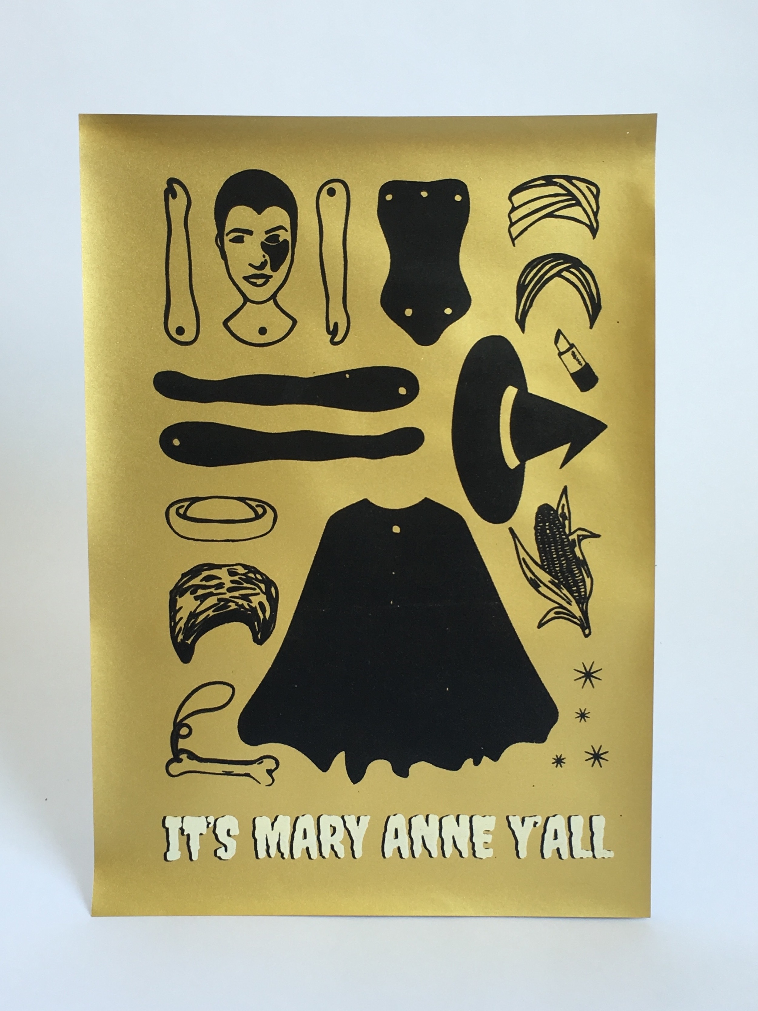 It's Mary Anne Y'all Paper Doll