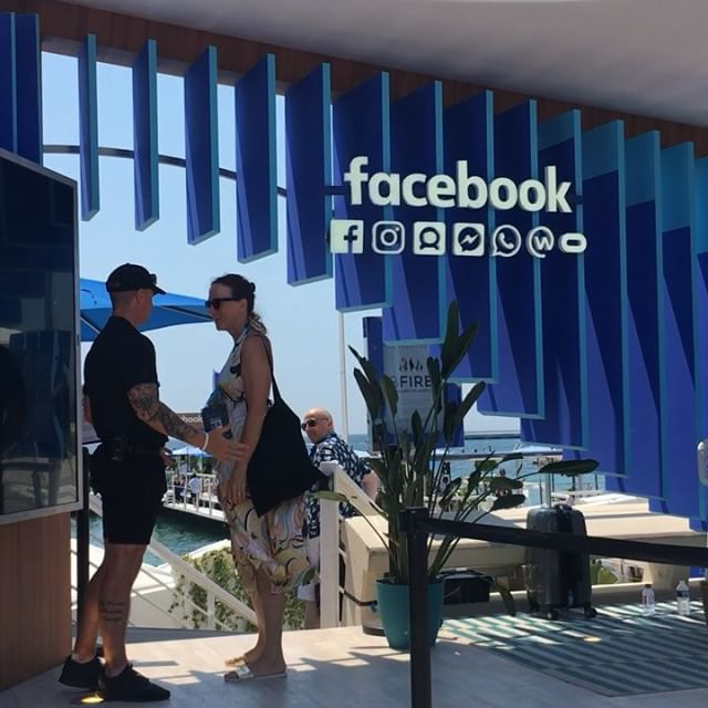 A delight to see the culmination of our work on facebook's beach space come together #facebookcannes #canneslions2018