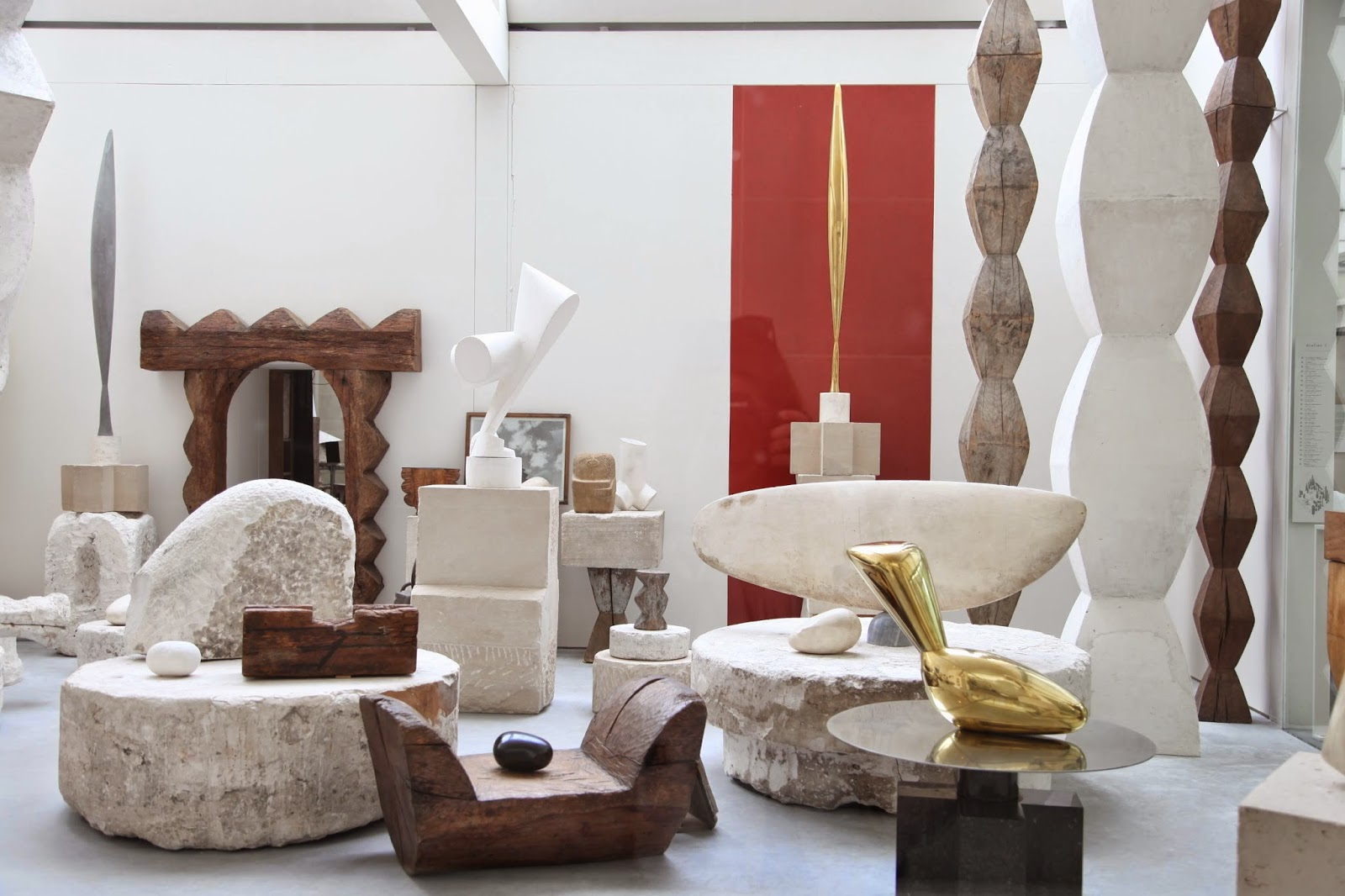 Atelier Brâncusi, Centre Pompidou, Paris – An exact reconstruction of his studio, housing his collection entrusted to the French state in 1957