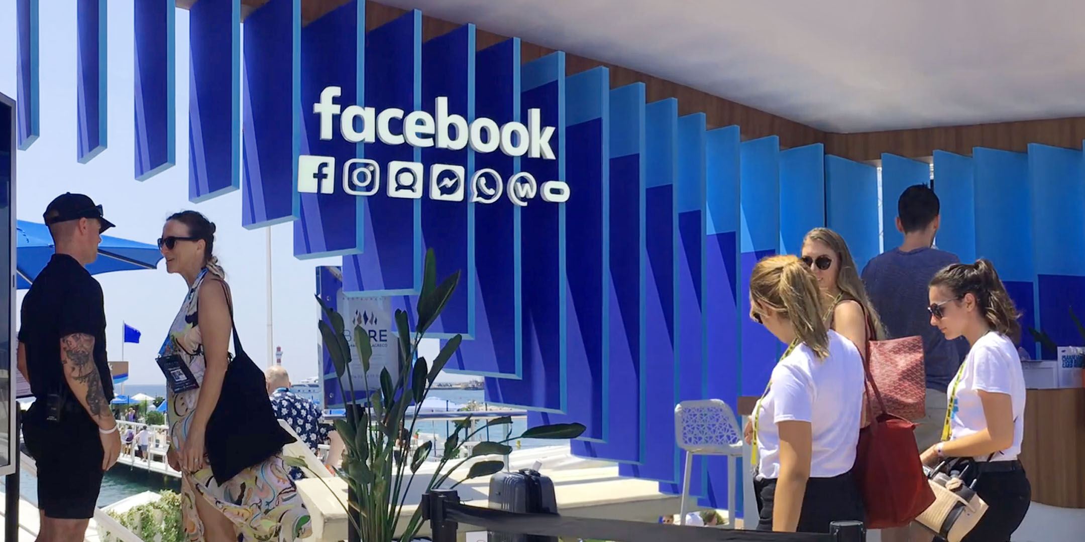 facebook - How can the idea of a global community manifest in a physical space, while also promoting tools for creativity?