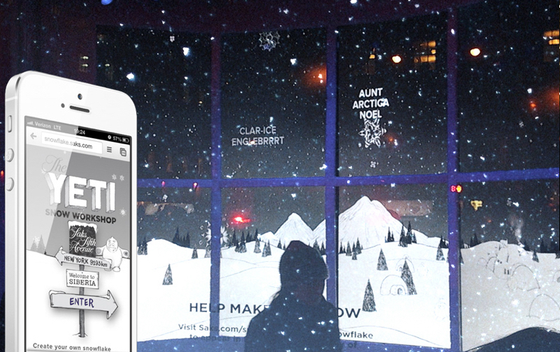 Saks 5th Avenue - Can an interactive multiplayer holiday window engage and excite the attention of a wide age group?