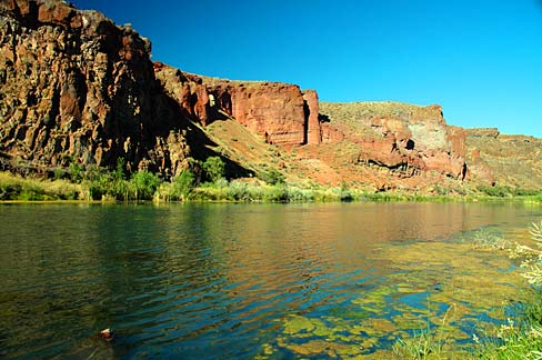 Parts of the Owyhee River in Oregon are in the National Wild and Scenic Rivers System and/or the Oregon State Scenic Waterways System. However much of its watershed has no permanent conservation status.  Source: Gary Halvorson, Oregon State Archives