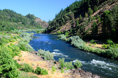 The Rogue River nears Hellgate would be included in Senators Wyden's and Merkley's proposed Rogue Canyon National Recreation Area.  Source: Gary Halvorson, Oregon State Archives