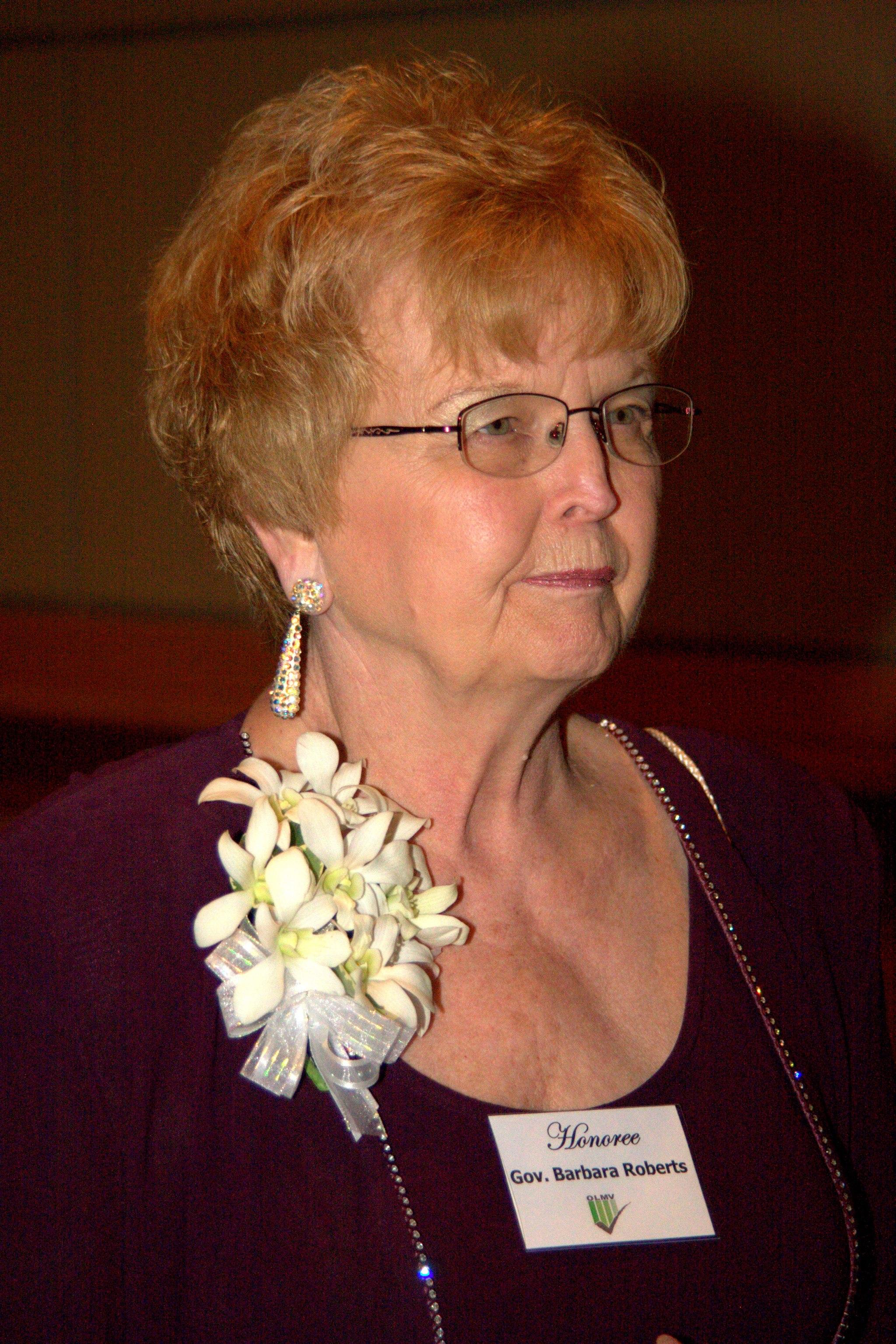 Oregon Governor Barbara Roberts in 2009.  Source: Wikipedia