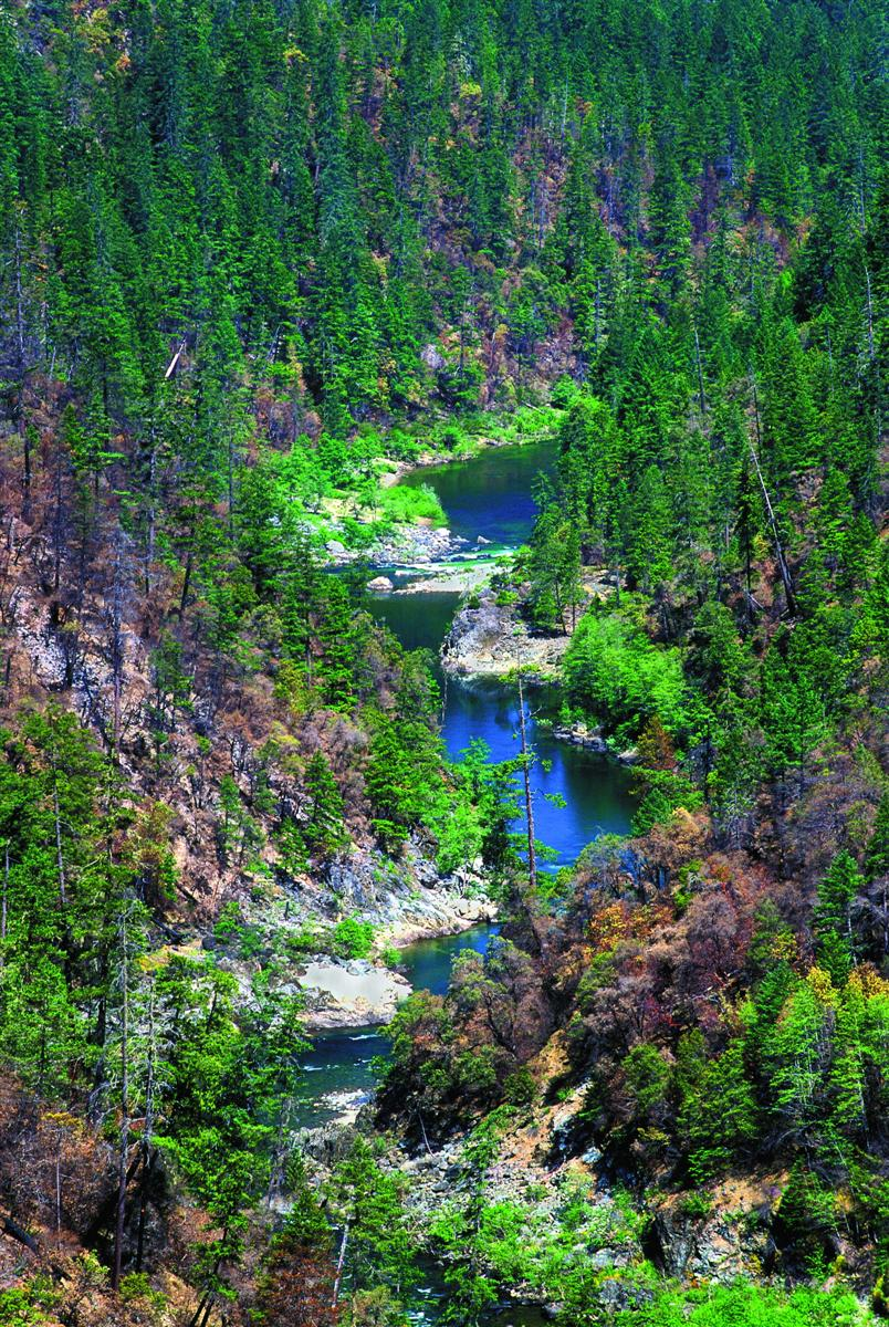 Figure 2. Most, but not all, of the Illinois Wild and Scenic River is also an Oregon scenic waterway . Source: Ken Crocker (first appeared in   Oregon Wild: Endangered Forest Wilderness  ).