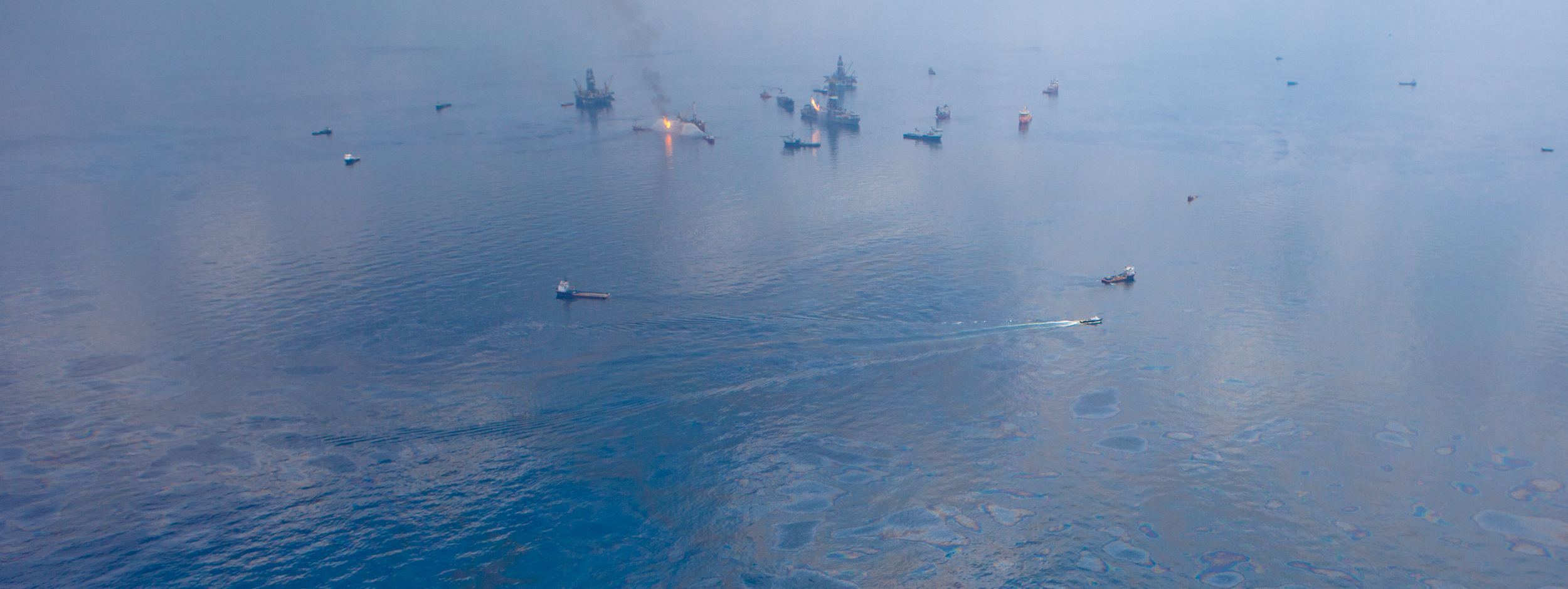 Figure 1. Coming soon to an ocean near you? The Deepwater Horizon oil spill disaster started April 20, 2010. BP did not declare the well sealed until September 19, 2010. Source : Wikipedia