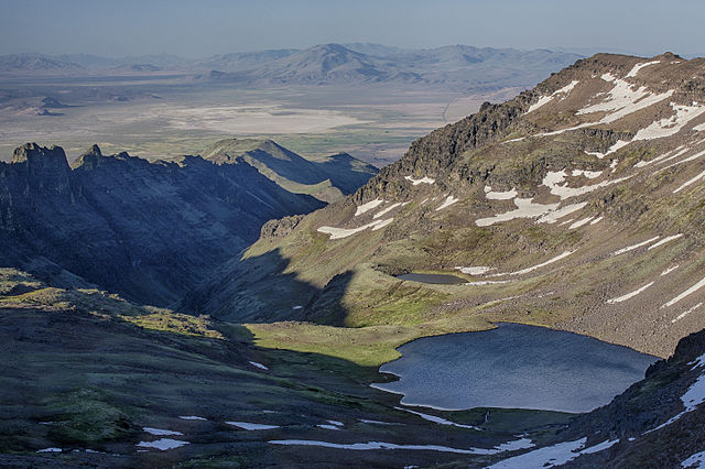 - Looking east from atop Steens Mountain. Source: BLM via Wikipedia
