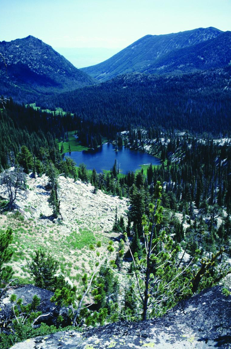 - Figure 2. Dutch Flat Lake in the Elkhorn Mountains, the source of Dutch Flat Creek. Both should be included in the National Wild and Scenic Rivers System. Source: George Wuerthner. First appeared in Oregon Wild: Endangered Forest Wilderness by the author.