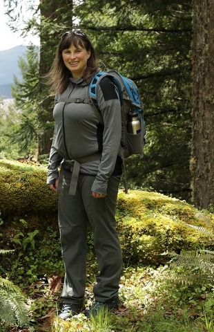 - Fig. 1. Chandra LeGue doing field research. Source: Oregon Wild.