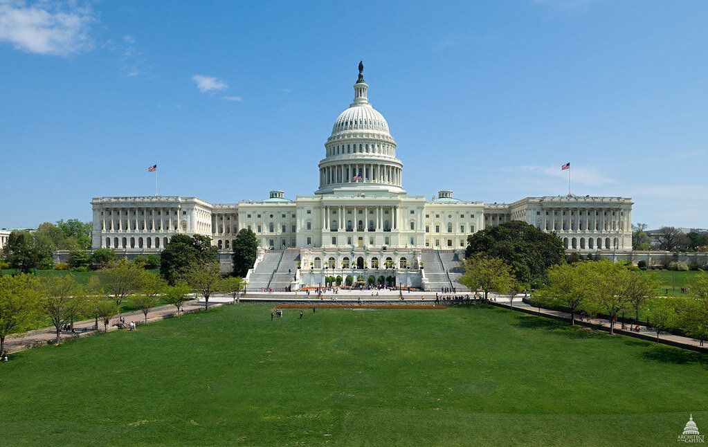 Fig. 1.  The west-facing side of the United States Capitol Building . Source:  Architect of the Capitol .