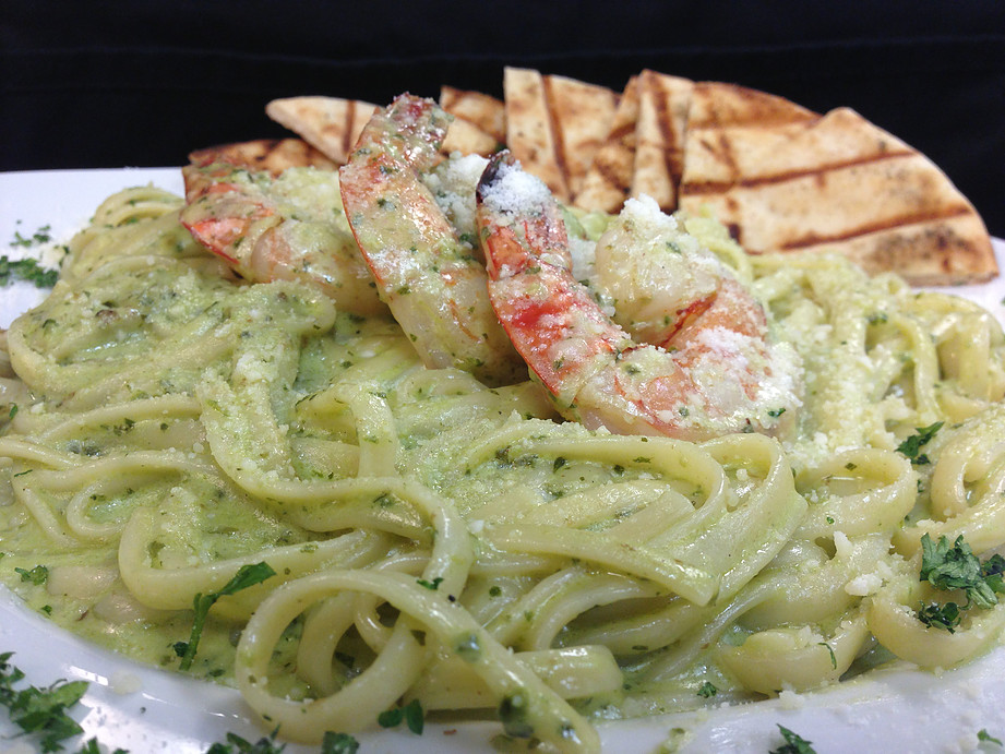 Pesto Shrimp Linguini