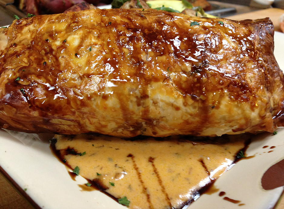 Salmon In Phyllo  w/ Lobster Dill