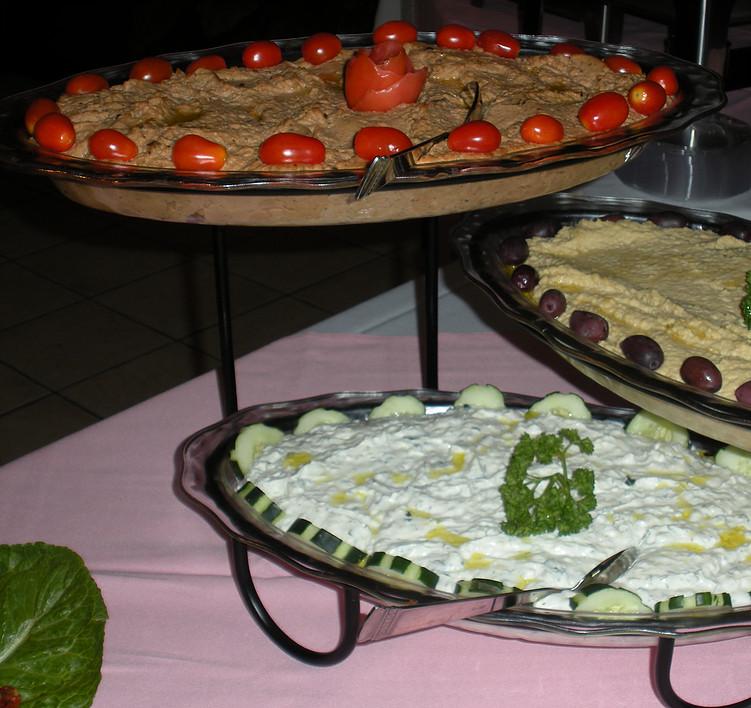 Home Made Dip Tasting Platters