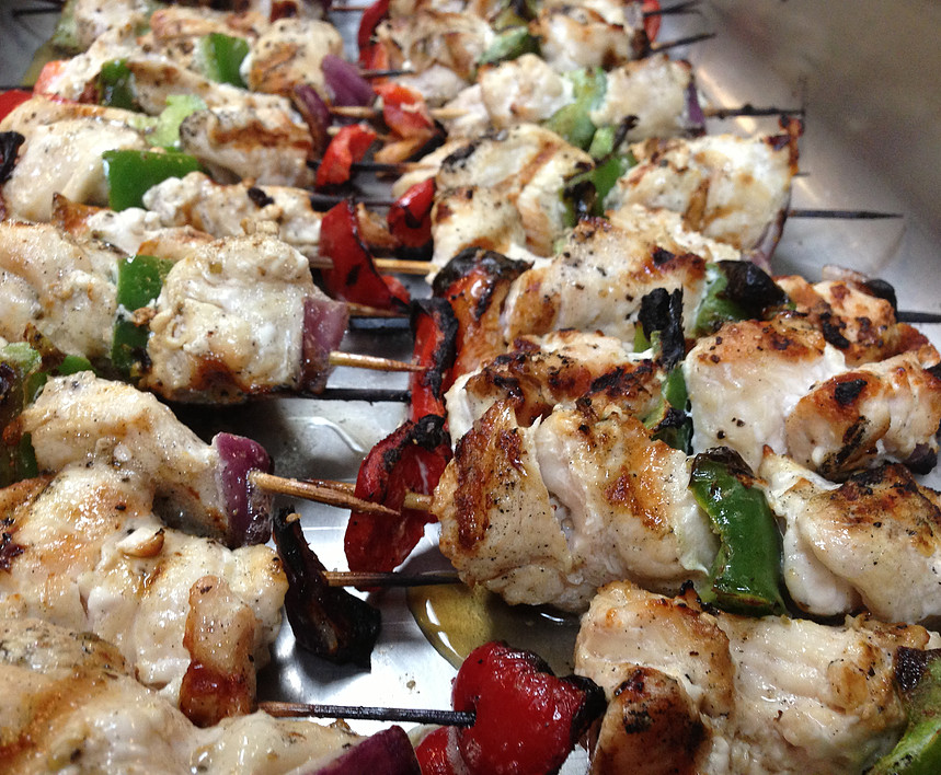 Char-Grilled Chicken Skewers