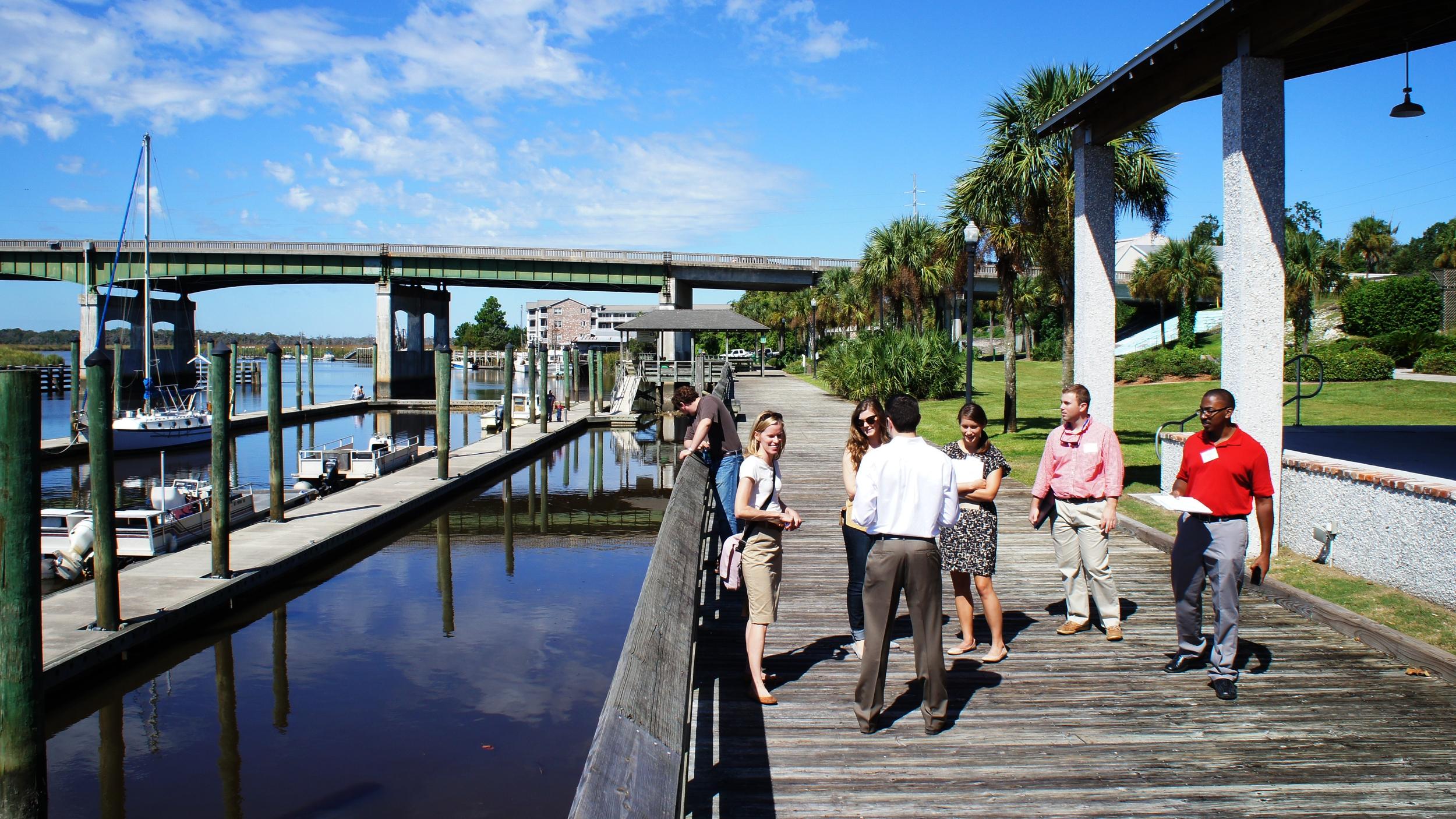 Blueprints Studio Team explores the Darien Waterfront