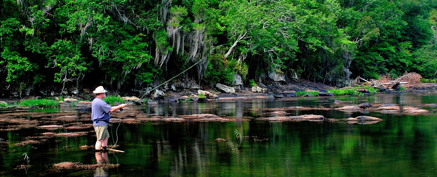 Fly Fishing on the Flint River in Upson County by Chris Drummond