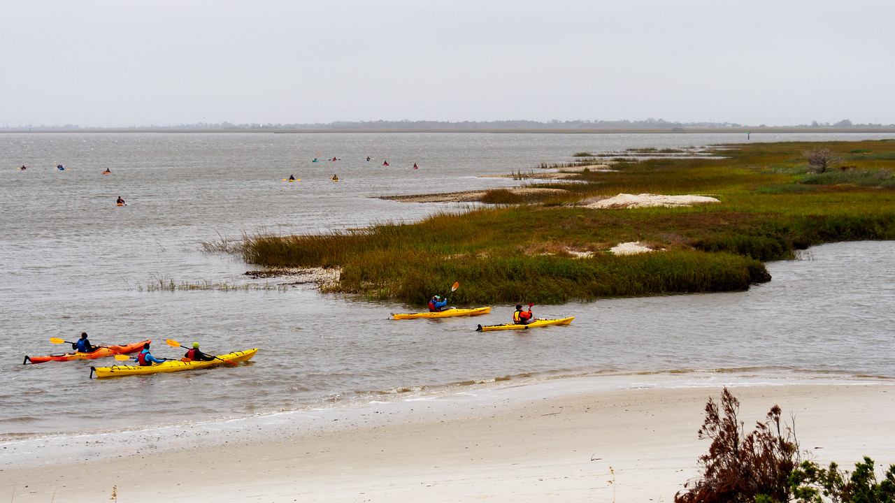 Jekyll Island Kayakers by Steve Rushing