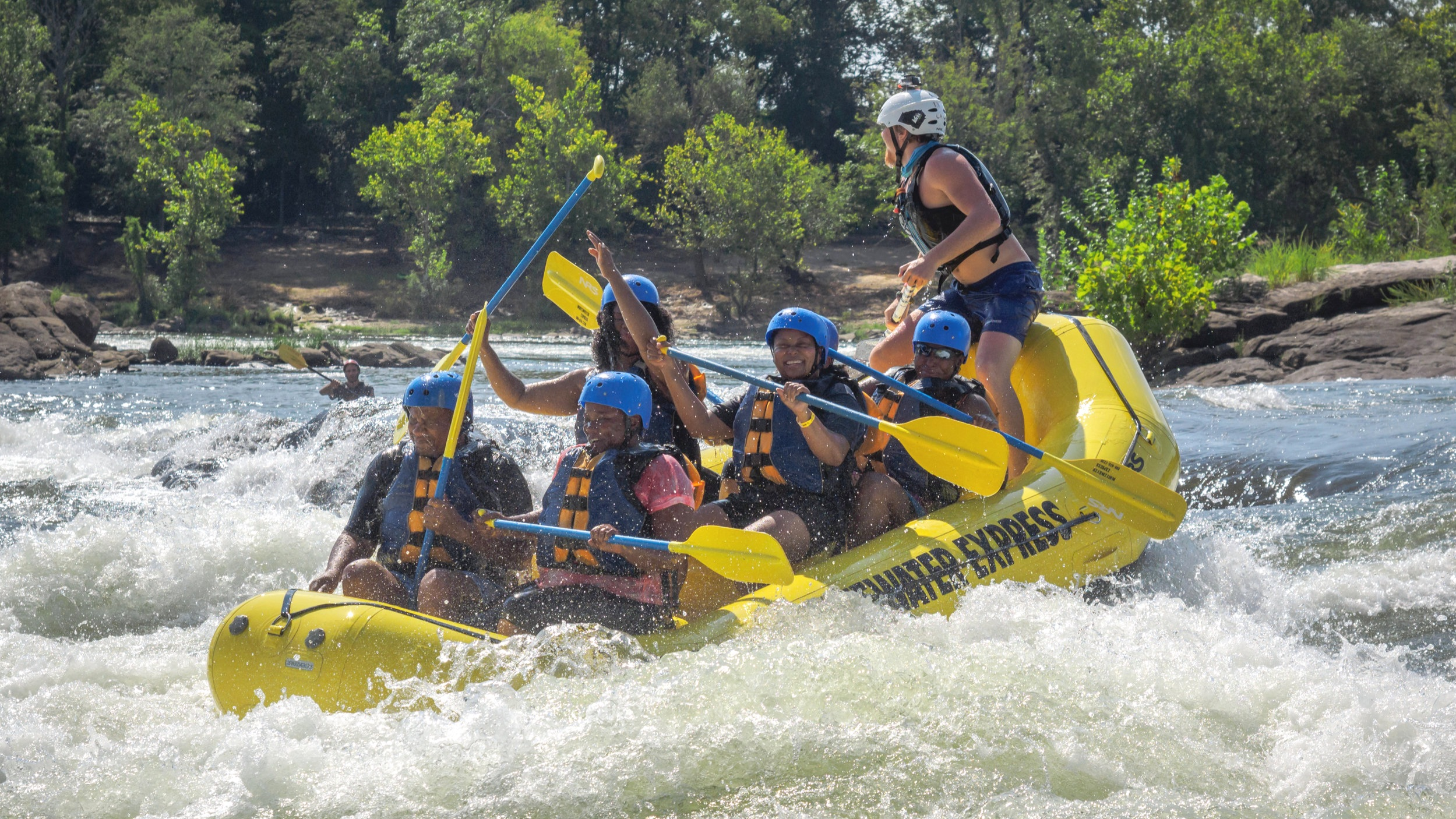 Whitewater rafting on the Chattahoochee In Columbus by William Brawley